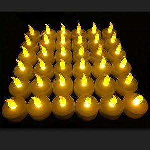 Flameless LED Tea Light Candles 36Pk Halloween Dec